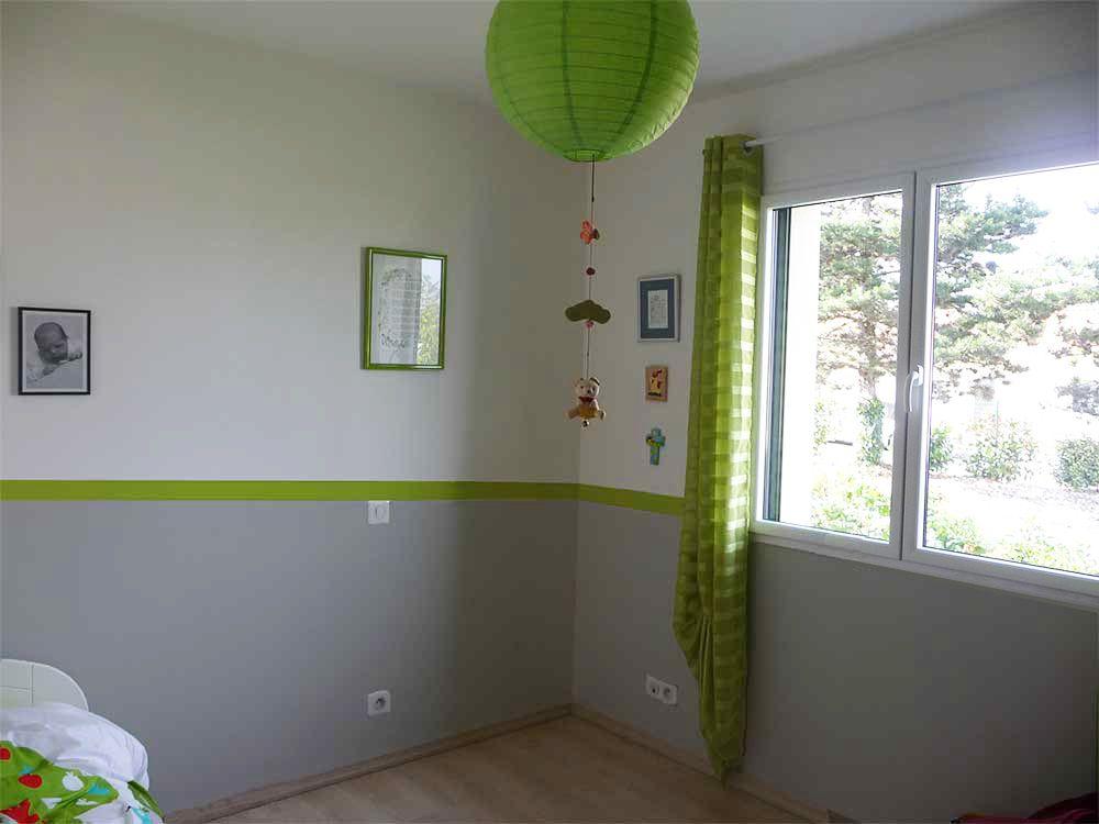 Chambre Bebe Vert Et Gris