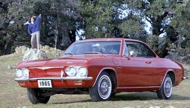 My big sister's first new car, how I also loved that little red Corvair.