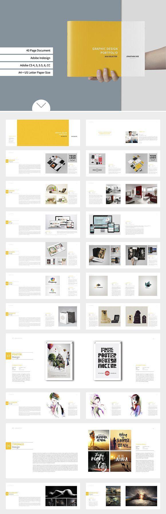 Graphic Design Portfolio Template by tujuhbenua on @creativemarket ...