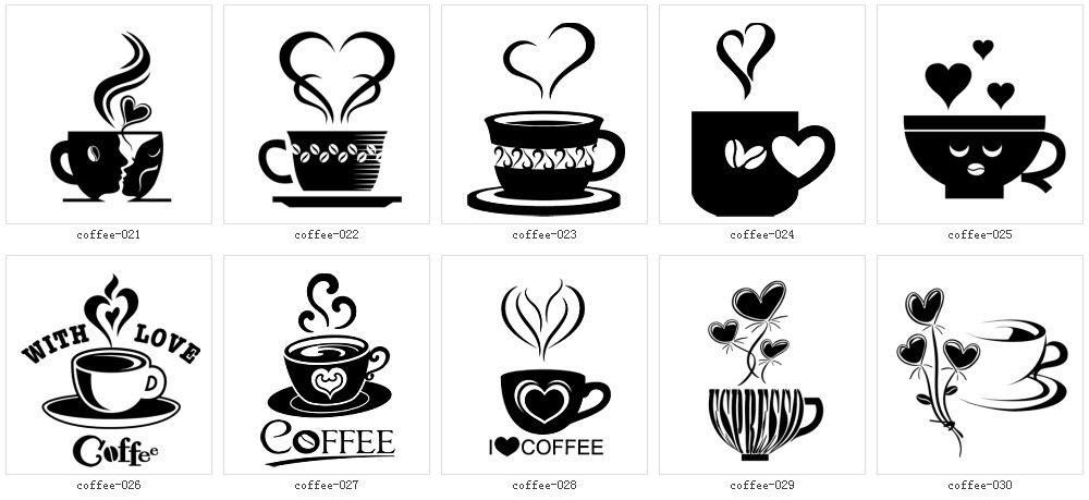モノクロ 白黒 イラスト素材全集2 コーヒー 01 イラスト モノクロ カフェイラスト