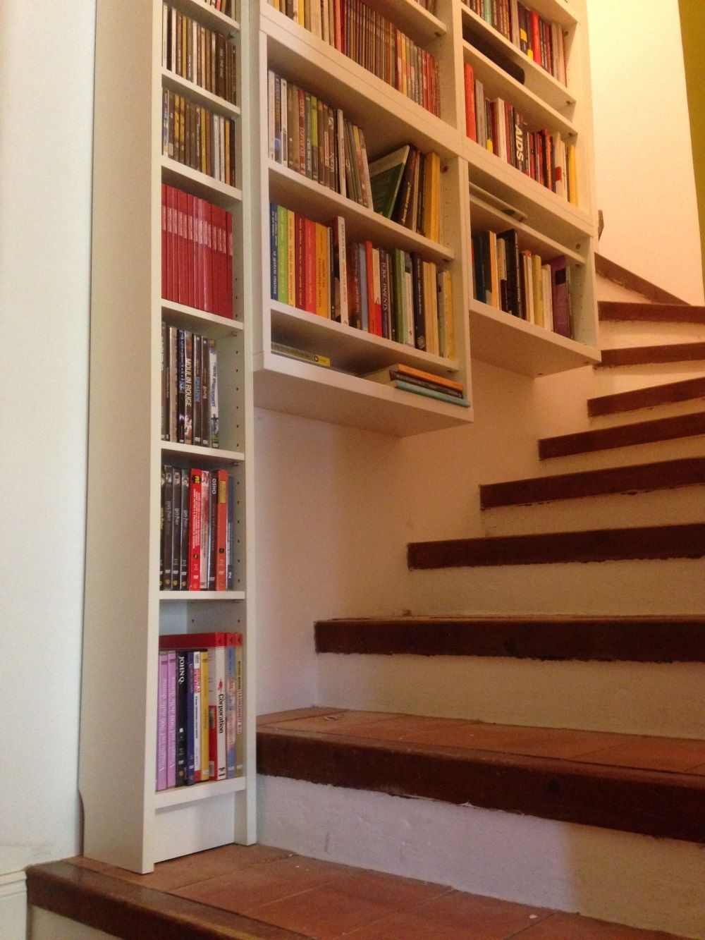 IKEA Benno and Besta floating shelves on stairs | Ikea hack ideas ...