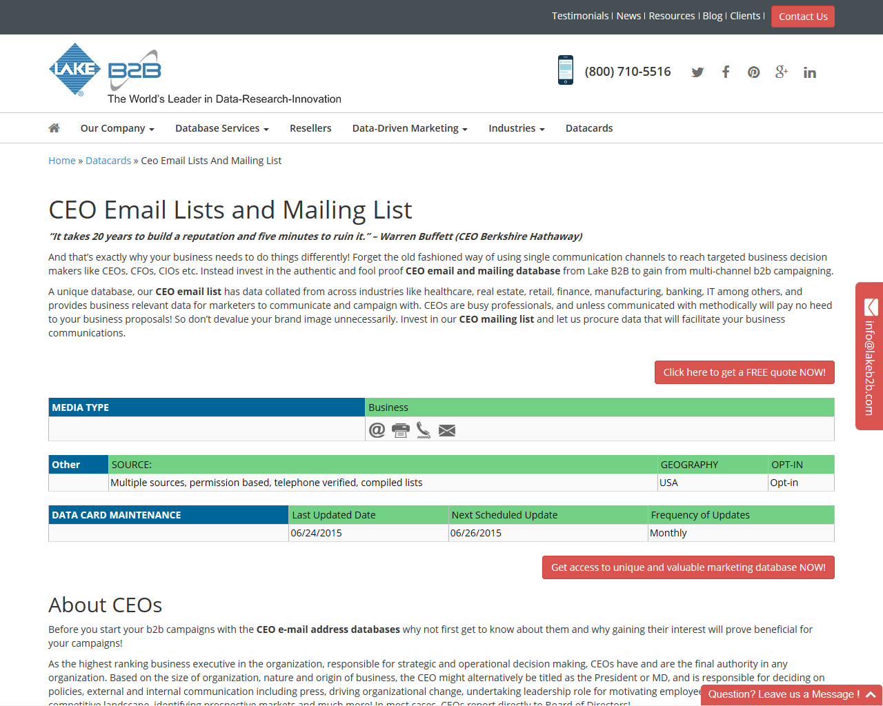 Pin by Tracey Young on CEO Email List and CEO Email Lists