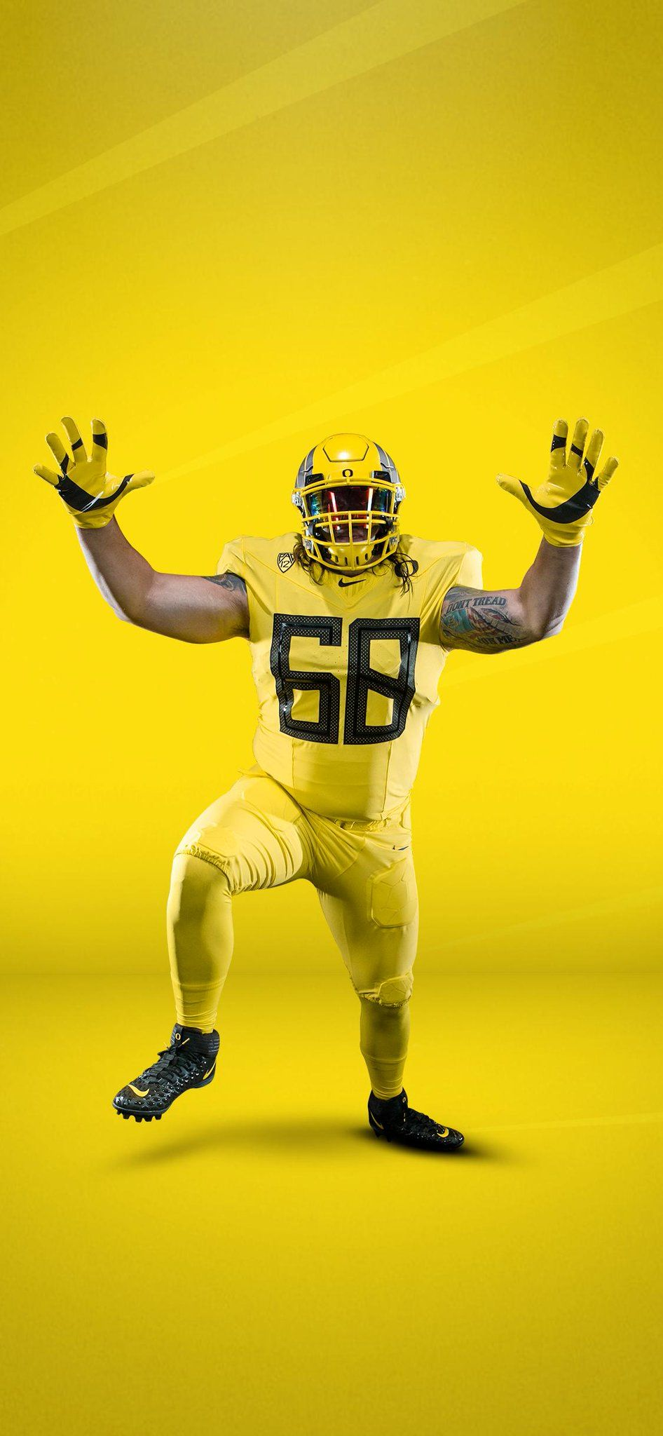 2019 University Of Oregon Ducks Football Uniforms All Yellow Oregon Ducks Football Ducks Football Football Helmets