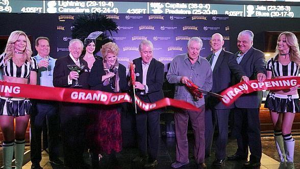 David Siegel Hosts Ribbon Cutting Ceremony at Newly-Renovated Race & Sports SuperBook at Westgate Las Vegas Resort & Casino (Photo credit: Edison Graff – www.stardustfallout.com)