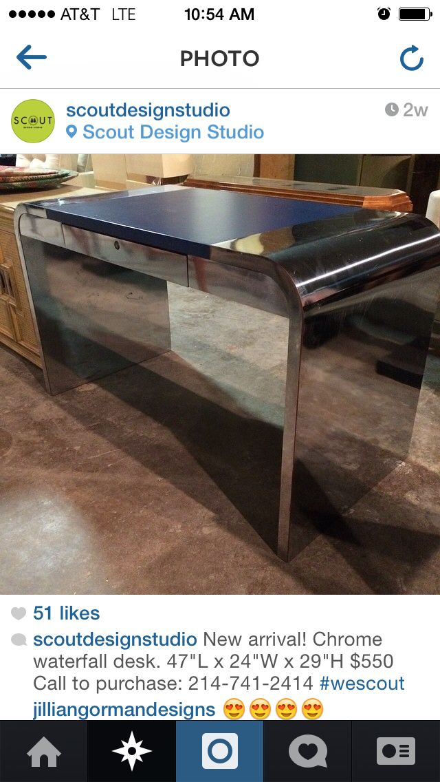 Tommy Parzinger One Drawer STAINLESS STEEL I Can Have That Sucker - 10 ft stainless steel table