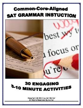 Printables Sat Grammar Worksheets activities we and sats on pinterest