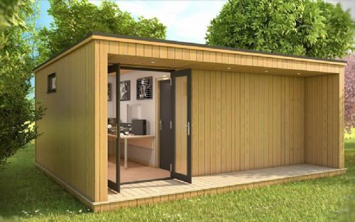 Studio Space That Could Be Build Anywhere Recording Studio Contemporary Garden Rooms Sound Proofing Cedar Cladding