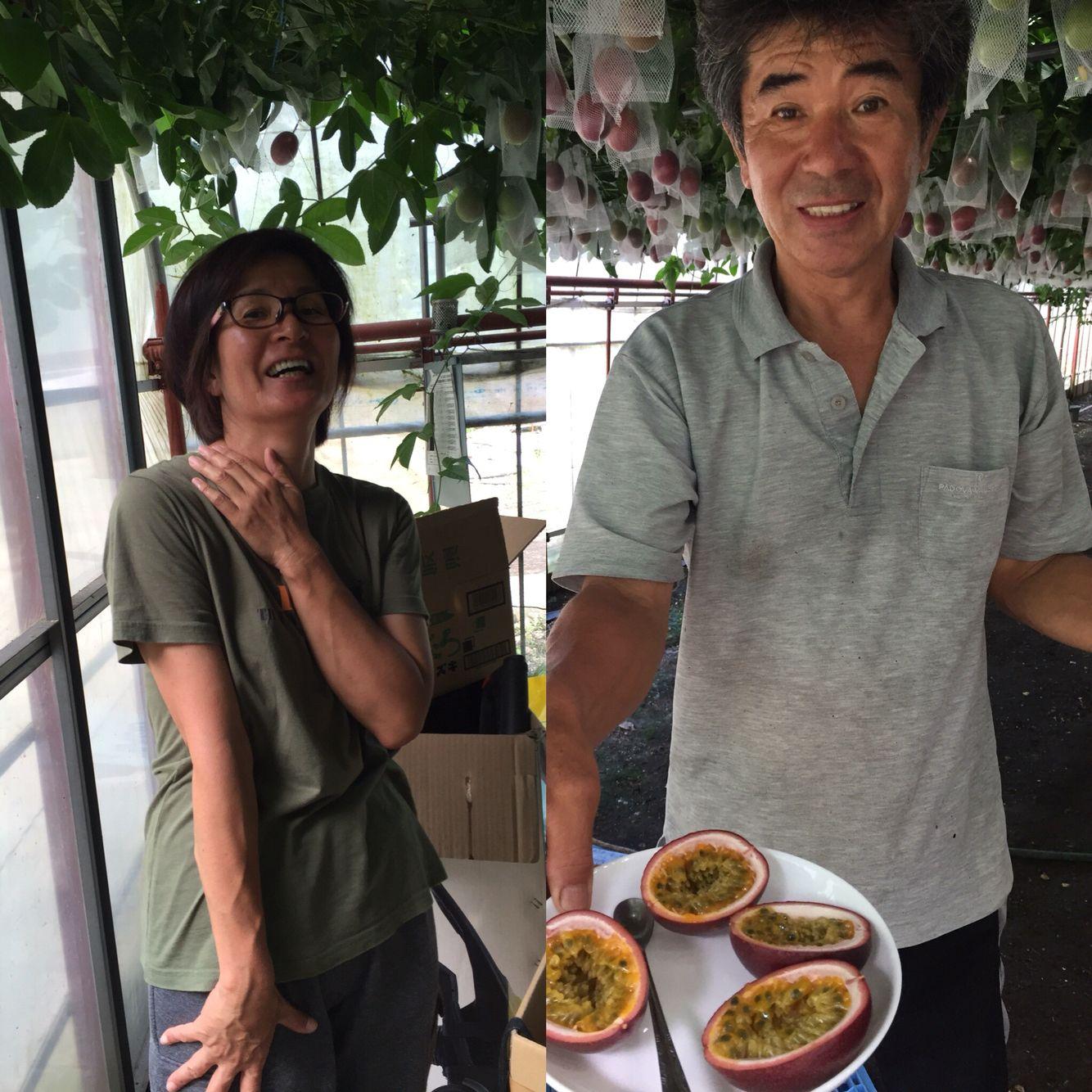 三宅島なぎさ園芸 浅沼さんご夫妻 パッションフルーツ