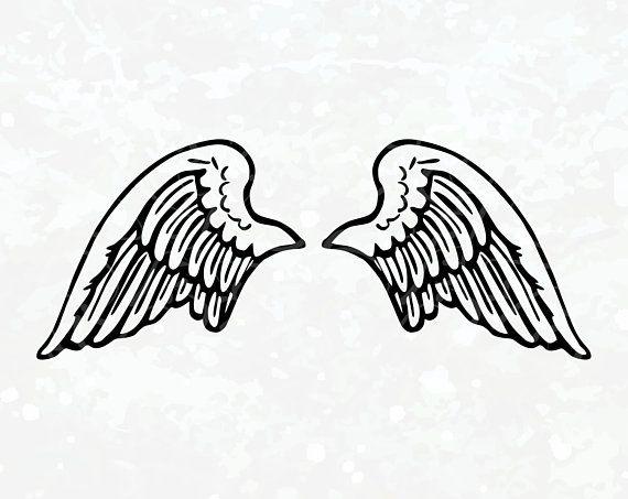 Angels Wings Silhouette Angel Wings Svg Wings Svg