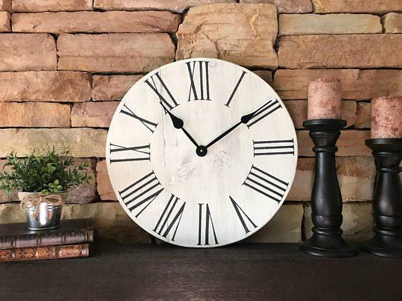 18 Vertical Farmhouse Clock Wall Clock Rustic Clock   Wall Decor ...
