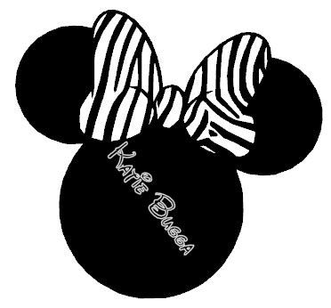 Zebra Minnie Mouse