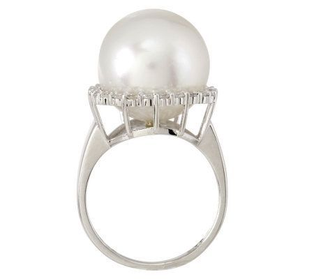 Premier South Sea Cultured Pearl Set In  14K White Gold