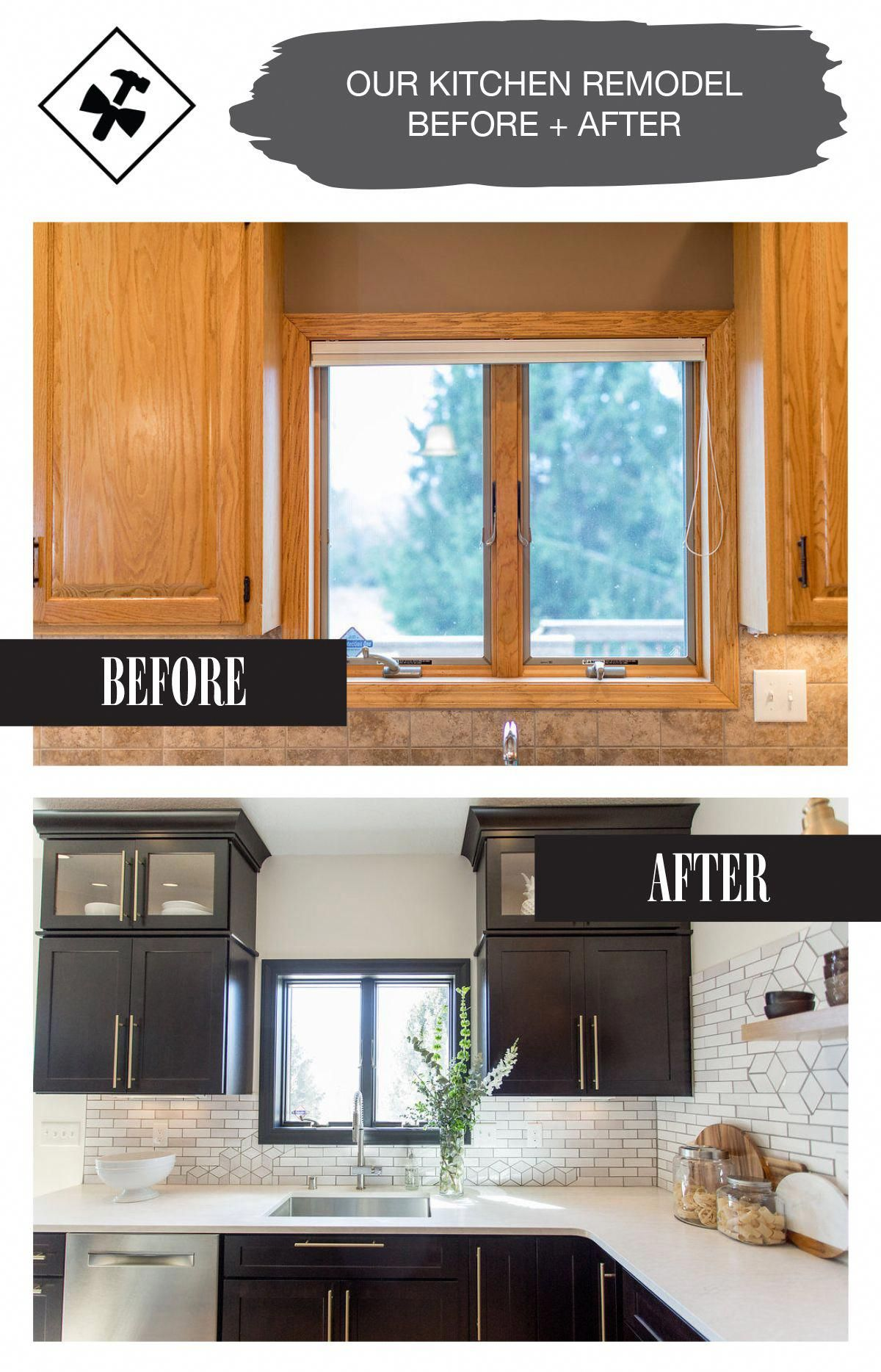 1960s Kitchen Remodel Before After: Kitchen Remodel Window Before And After