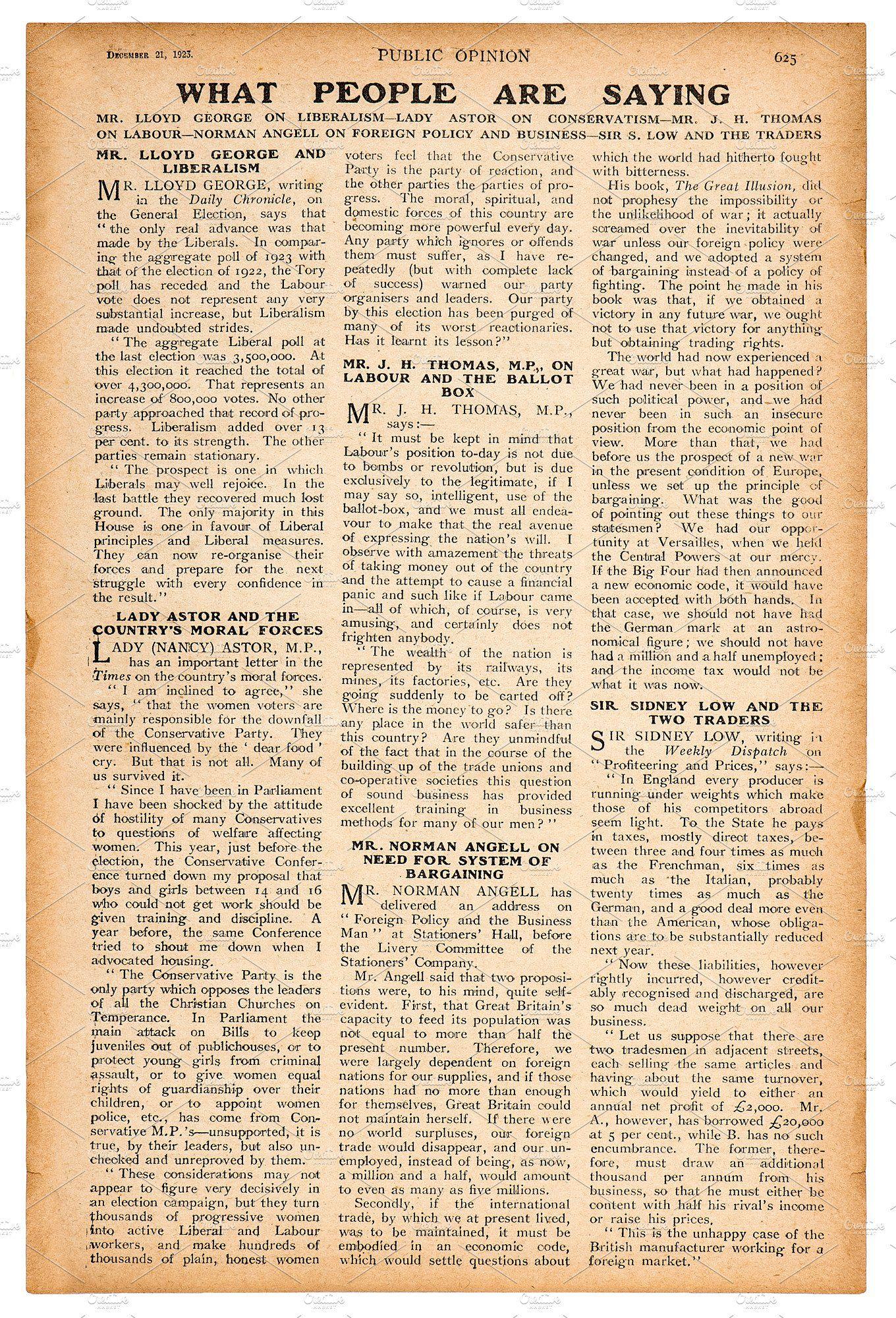 Newspaper Page English Text Newspaper Collage Vintage Paper Background Vintage Newspaper