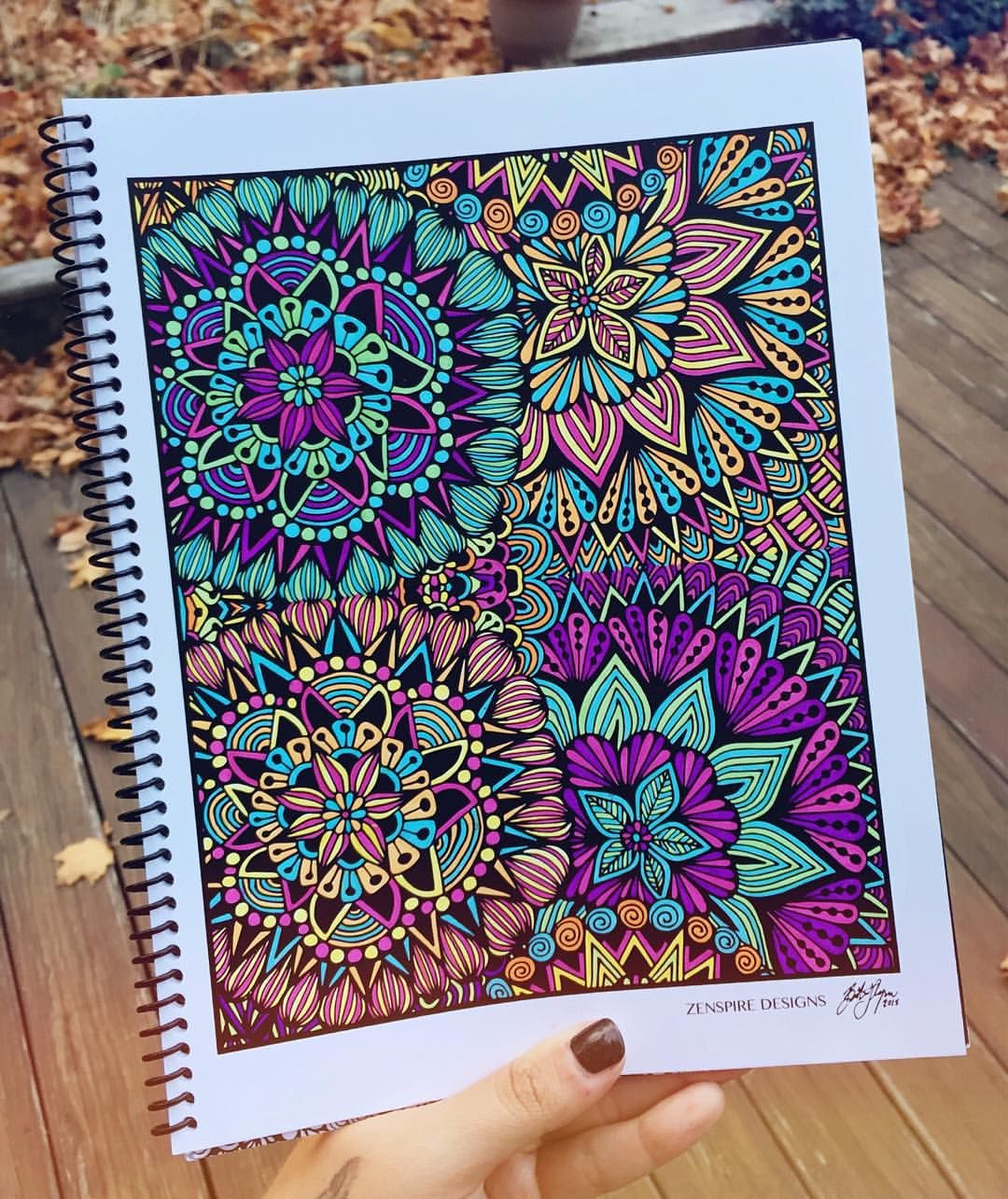 Finally Finished Another Full Page In My Coloring Book Still 13 To Go Order Yours Today And Get It This Week Link Bio Zentangle Zenspire
