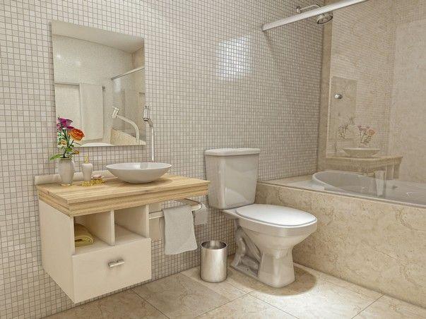 Decoração para banheiro pequeno e simples  Decoração para banheiros pequenos -> Revestimento Para Banheiro Simples E Pequeno