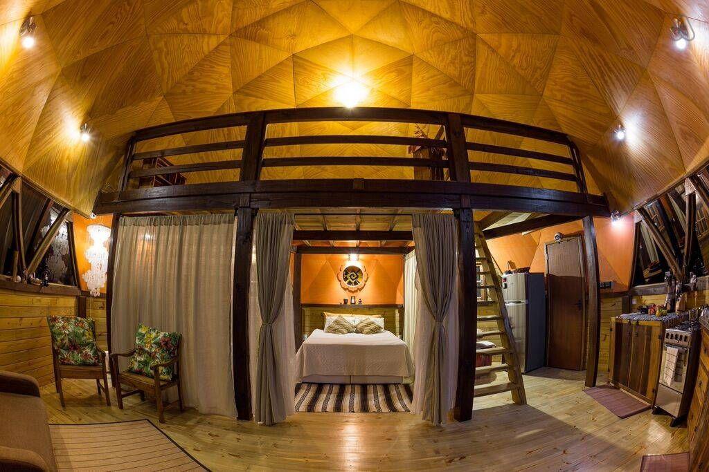 Ganhe uma noite no recanto pedra maya casa geod sica em - Casas geodesicas ...