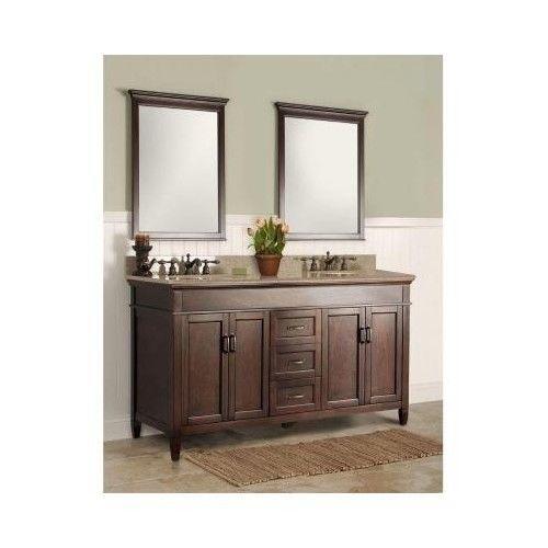 Bathroom Double Vanity Mahogany 60 Cabinet 2 Sink Espresso Modern Contemporary Conte Contemporary Bathroom Vanity Double Vanity Bathroom Granite Vanity Tops