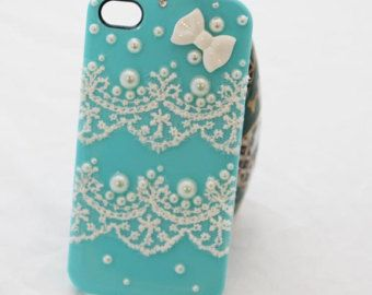 Durable iphone 5 5s case  iphone 4  4s case pearl lace decorated iphone  case  -hard phone case