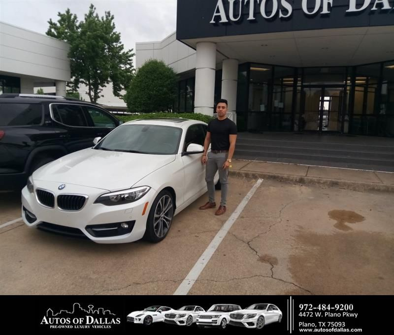 Congratulations Lisandro On Your Bmw 2 Series From John Hernandez Ii At Autos Of Dallas Autosofdallas Customer Review Dallas Luxury Car Dealership
