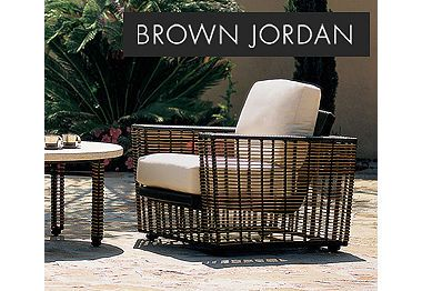 Outdoor Furniture. Since 1945, Brown Jordan has designed luxury, leisure furnishings that transcend time and liberate the senses.