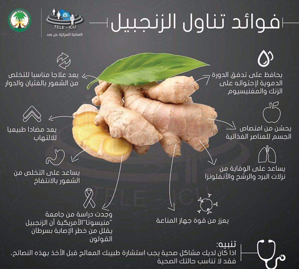 فوائد الزنجبيل Health Fitness Nutrition Health Food Health Facts Food