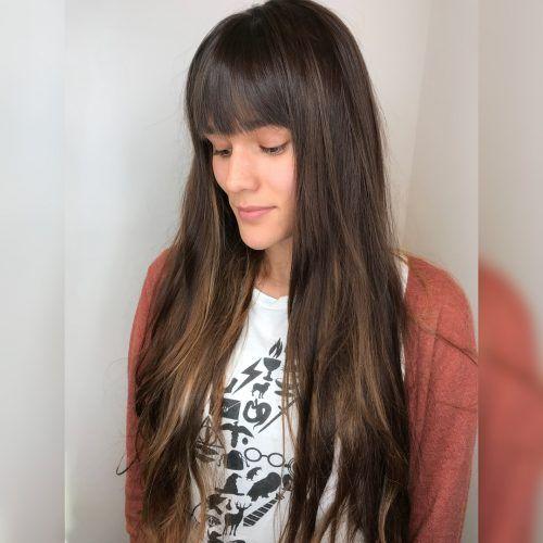 Long Bangs Hairstyles Frisuren Die Sie Lange Haare Mit Pony Machen Wollen #neuefrisuren