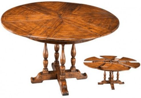Furniture Cool Antique Expandable Round Dining Room Table In High