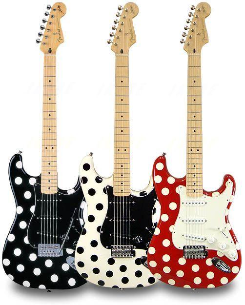 fender buddy guy polka dot stratocaster music pinterest music pinterest guitars. Black Bedroom Furniture Sets. Home Design Ideas