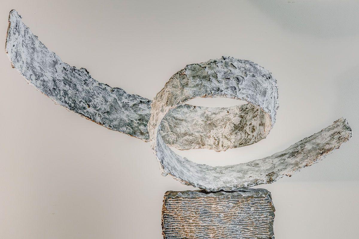 Joseph Cals - Sculpture 'Flow' – 100 x 140 x 70 cm - Bronze / hardstone