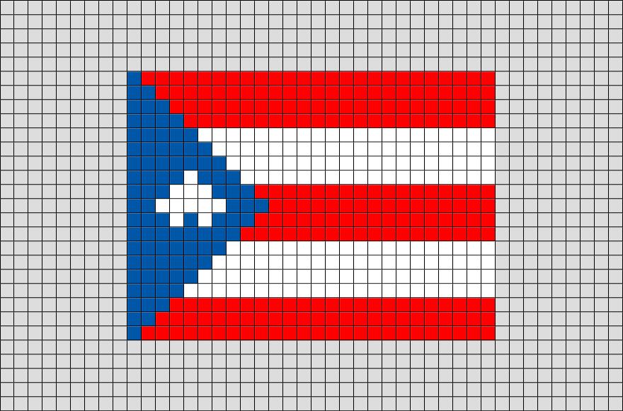 Pixel Hacer Puerto Flag Abalorios Of Hama Rico ArtPara 1F3uTK5lJc