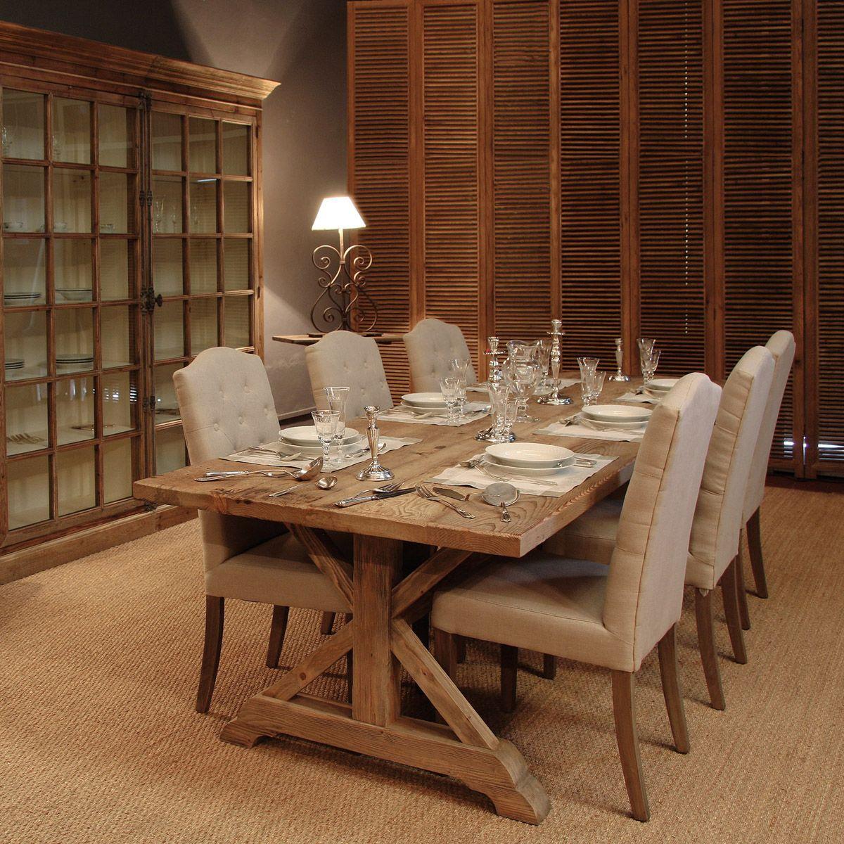 SE-1233-12 Mesa de comedor madera reciclada (280x100x78) | Home ...