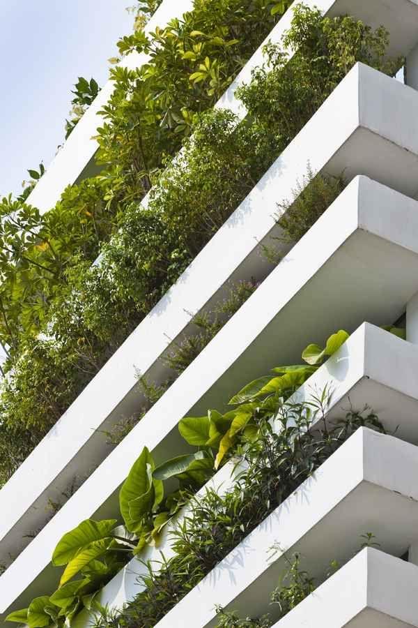 Home Design, Modern Green Wall Design: New House Ideas Designs