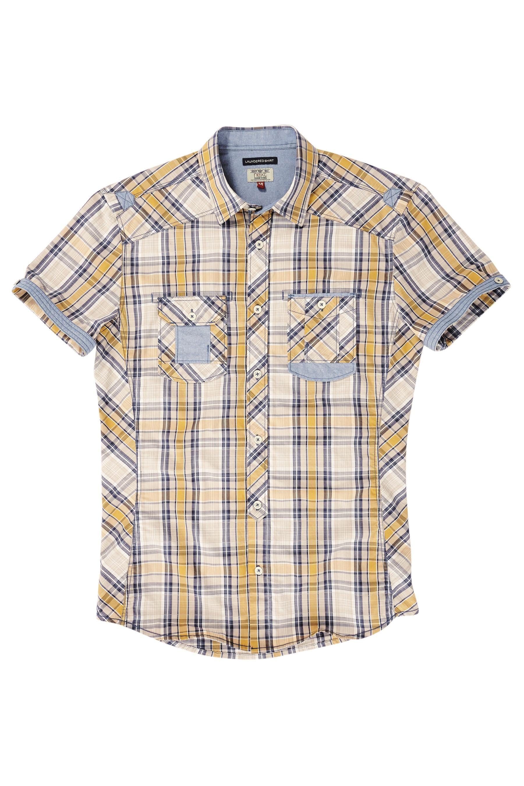 Buy Ecru Yellow Check Shirt from the Next UK online shop