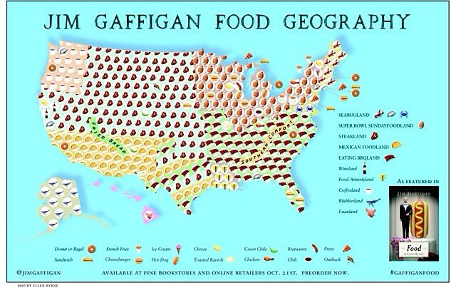 If you preorder FOOD: A LOVE STORY before September 30th you will receive this beautiful Jim Gaffigan Food Map placemat!  Info at Jim Gaffigan.com Digital or hardback.
