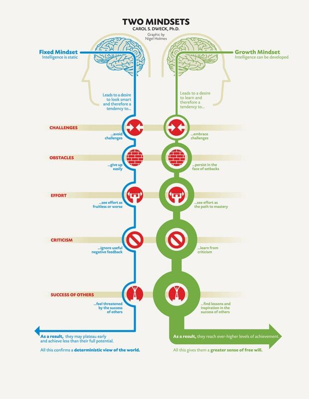 Two mindsets: Fixed vs Growth [Image] - Imgur