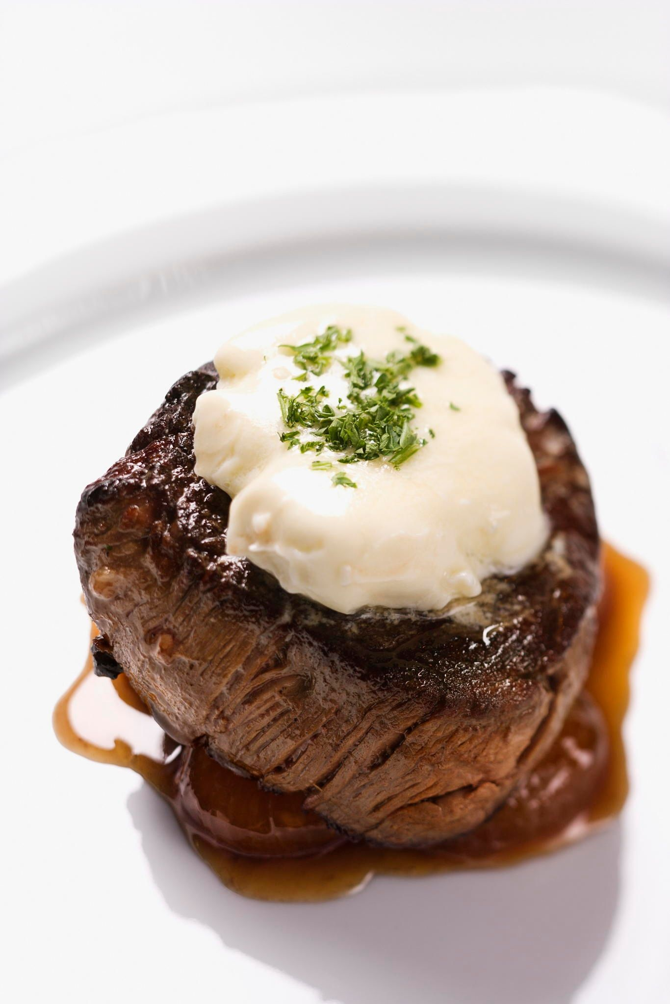 Beef Dinner Entree Beef Filet Dinner Entree With Garnish And Brown Sauce Displayed On A White Dinner Plate Vertical Beef Dinner Dinner Entrees Beef Recipes