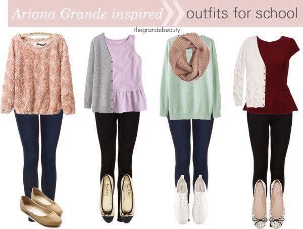 Ariana Grande fashion outfits for school | beauty ...