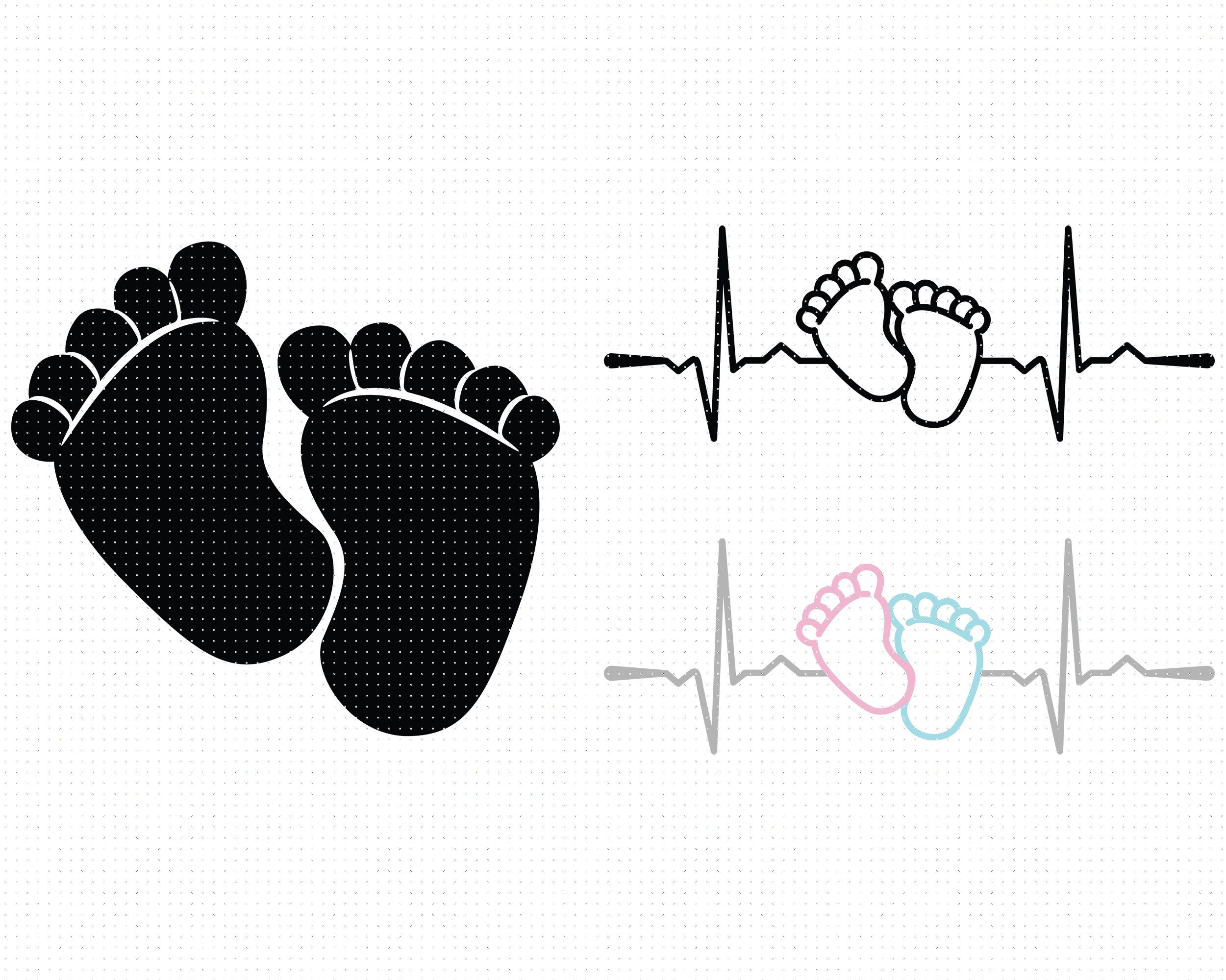 Baby Footprint Svg Baby Feet Svg Baby Footprint Silhouette Baby Svg Newborn Svg Footprint Svg Baby Foot Svg Tiny Feet Heartbeat Svg Vozeli Com