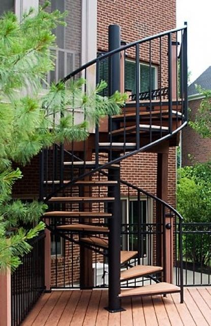 Charmant Exterior Spiral Staircase Metal Steel