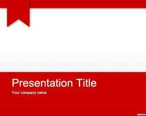 red academic powerpoint template is a free but amazing template, Modern powerpoint