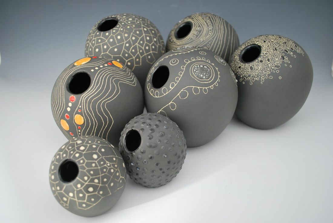 Orbs Sasha Ceramics Scrafitto Pinterest Pottery