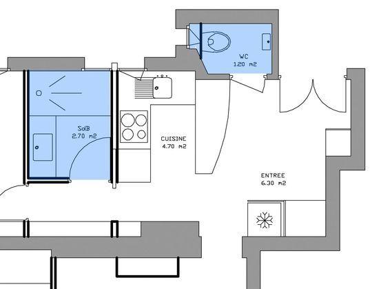Am nagement petite salle de bains 28 plans pour une petite salle de bains de 5m petites for Salle de bain carree 4m2