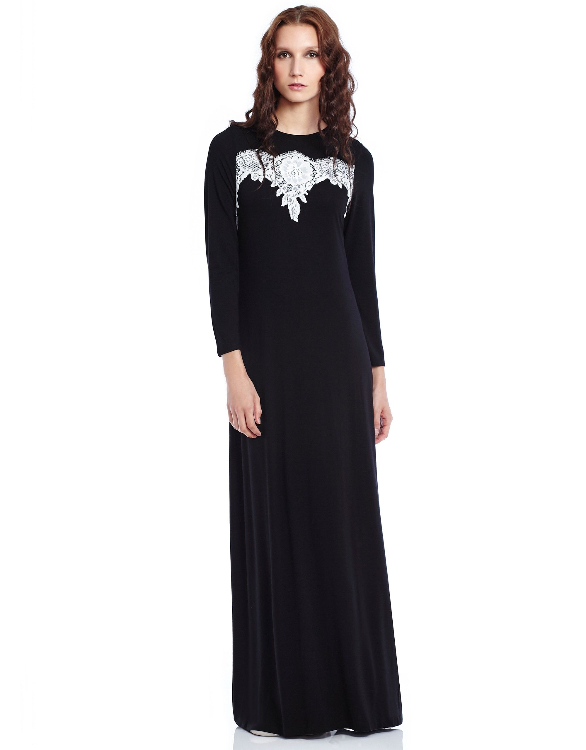 Lace Trimmed Cotton Modal Pull On Nightgown at The Lingerie Shop New York 70d6abb04