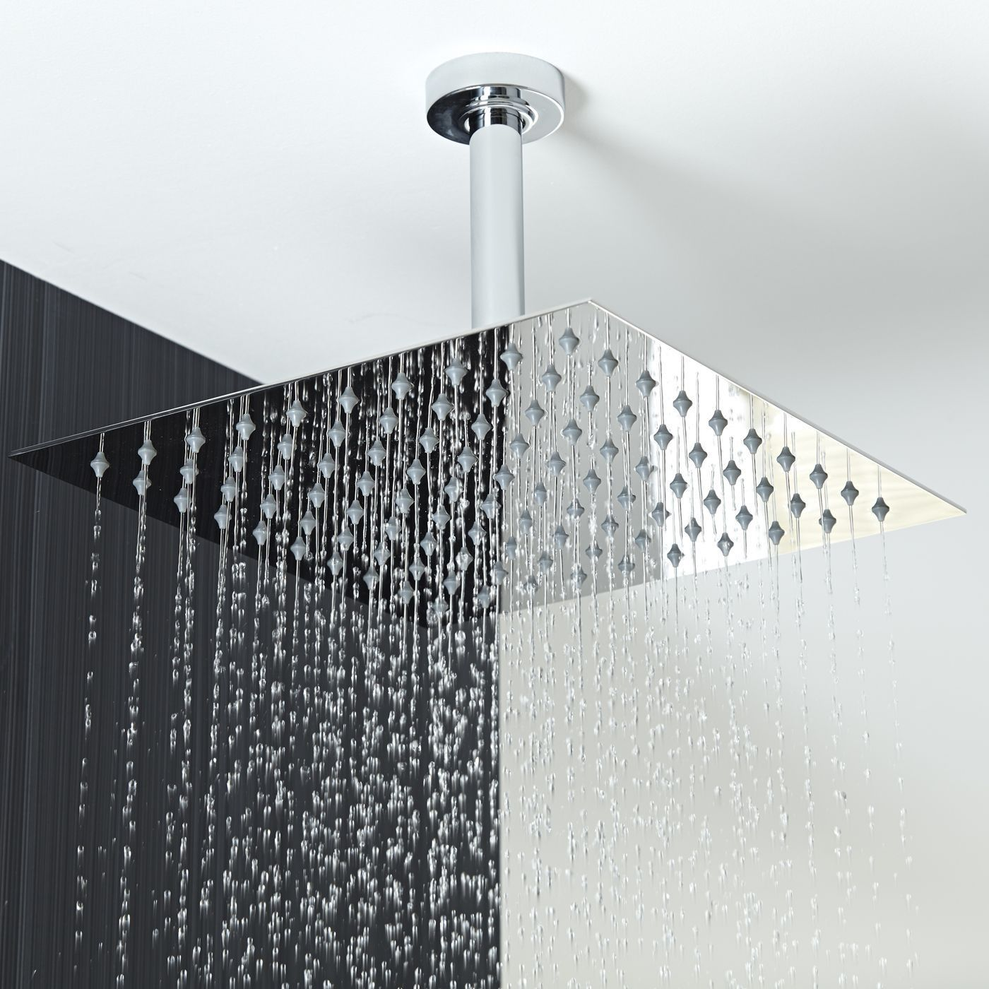 12 Square Shower Head With Round Ceiling Arm With Images