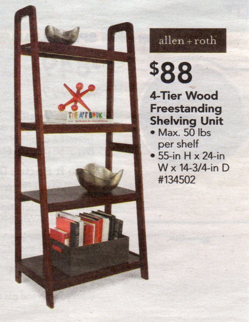 Lowes 4 Tier Wood Freestanding Shelving Unit Freestanding