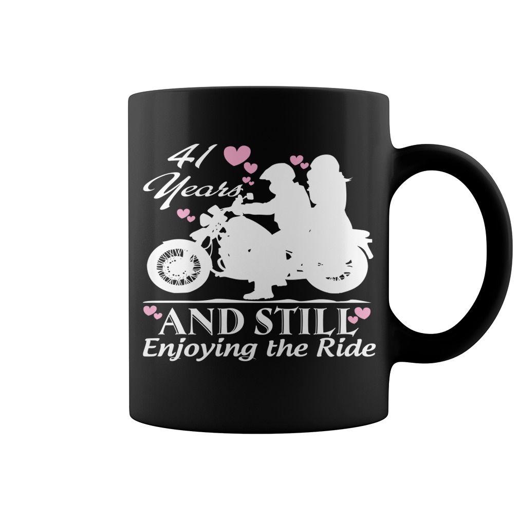 41 Years Wedding Anniversary Gifts Motorcycle Hot Mug Coffee Cool Mugs Funny