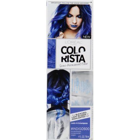 L Oreal Paris Colorista Hair Color Blue Indigo Hair Wash Out