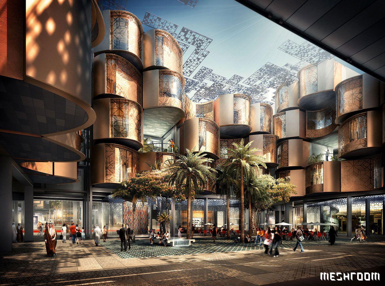 Masdar city abu dhabi uae 3d architectural for Masdar abu dhabi