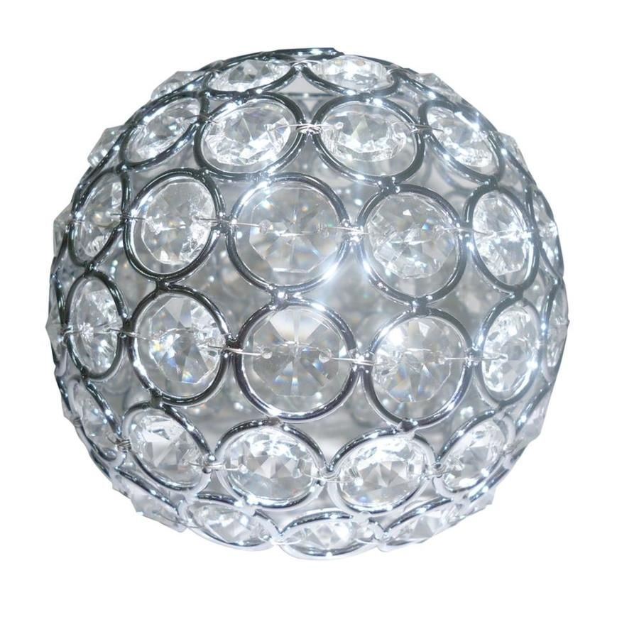 Style selections ladura 4 in h 475 in w chrome crystal globe vanity shop style selections ladura 4 in h 475 in w chrome crystal globe vanity light shade at lowes arubaitofo Gallery